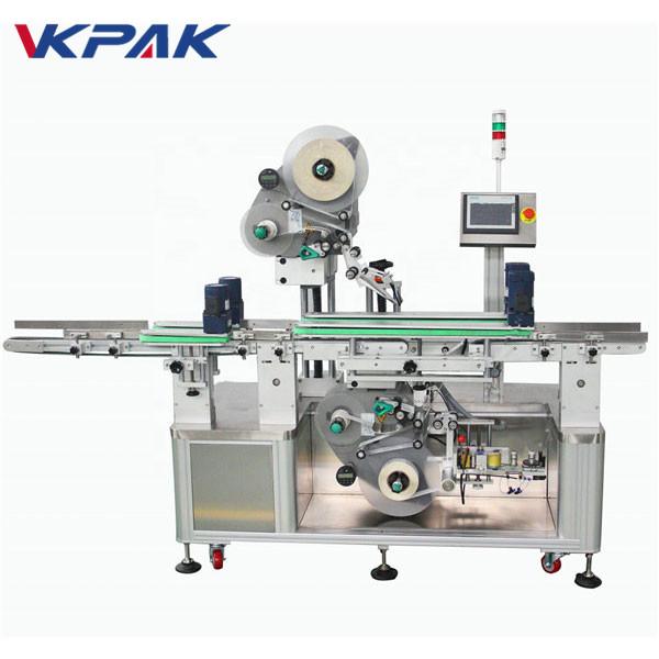 Automatický stroj na označovanie štítkov s obojstrannou hornou a spodnou časťou