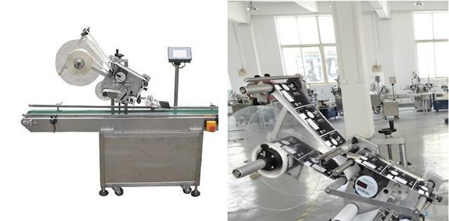 Automatické ploché etiketovacie stroje na vrchné označovanie kartónov