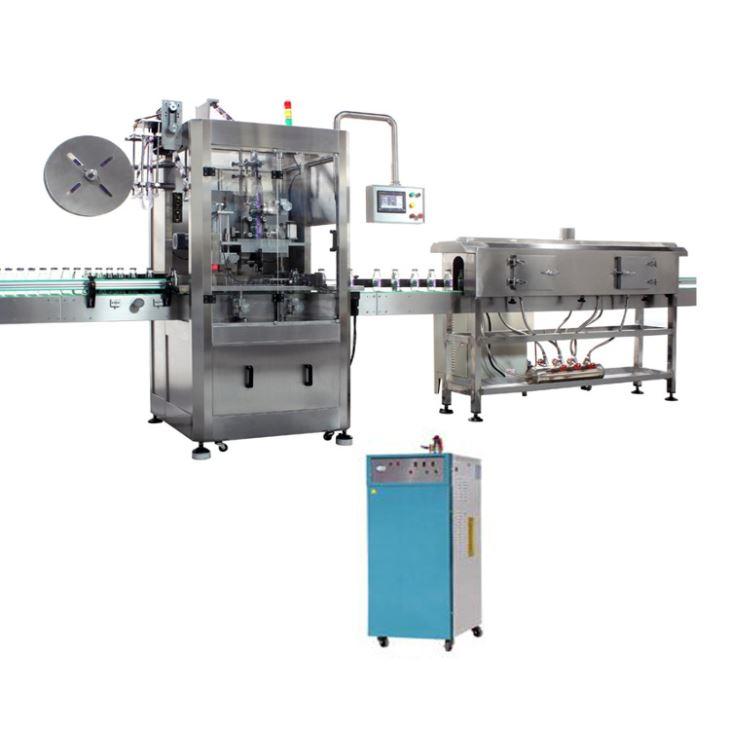 Automatický stroj na označovanie fliaš s PVC zmršťovacím rukávom