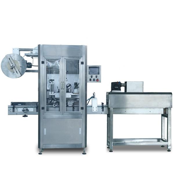Automatický zmršťovací stroj na označovanie plastových fliaš z PVC