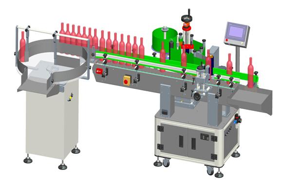 Automatické vertikálne priehľadné štítky s červeným vínom, podrobnosti o štítkovacom stroji
