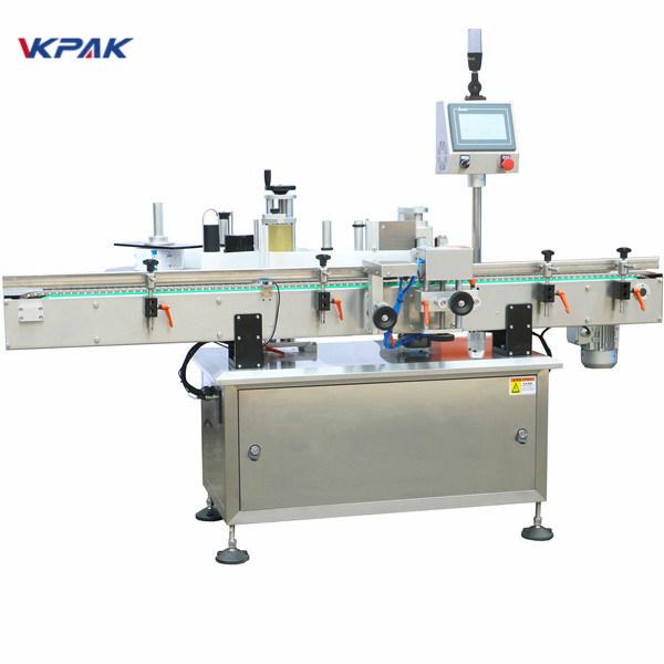 Plne automatické polohovanie vertikálneho guľatého etiketovacieho stroja