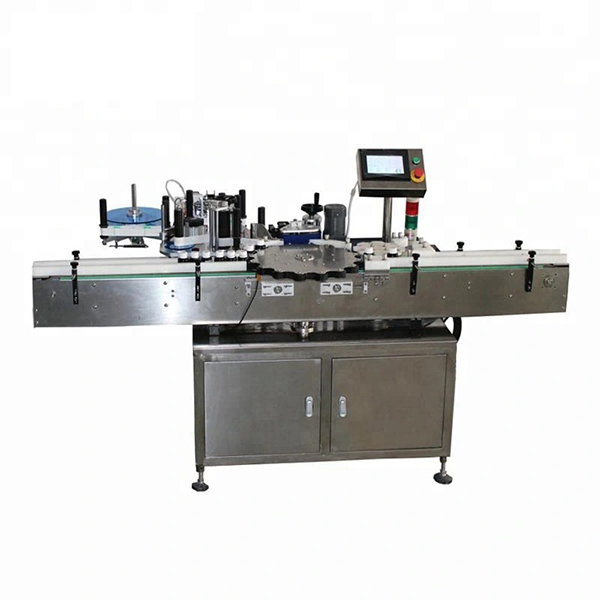 Vysokorýchlostný automatický etiketovací stroj s rotačnou orientáciou polohy
