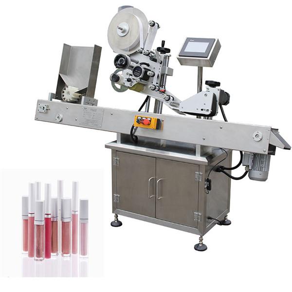 Horizontálne automatické farmaceutické označovacie zariadenie na malé fľaše