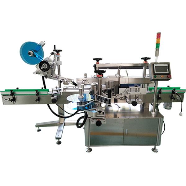 Stroj na označovanie hornej a prednej a zadnej strany