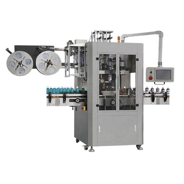 Dvojhlavý automatický štítkovací stroj na zmenšovanie plastových sklenených fliaš
